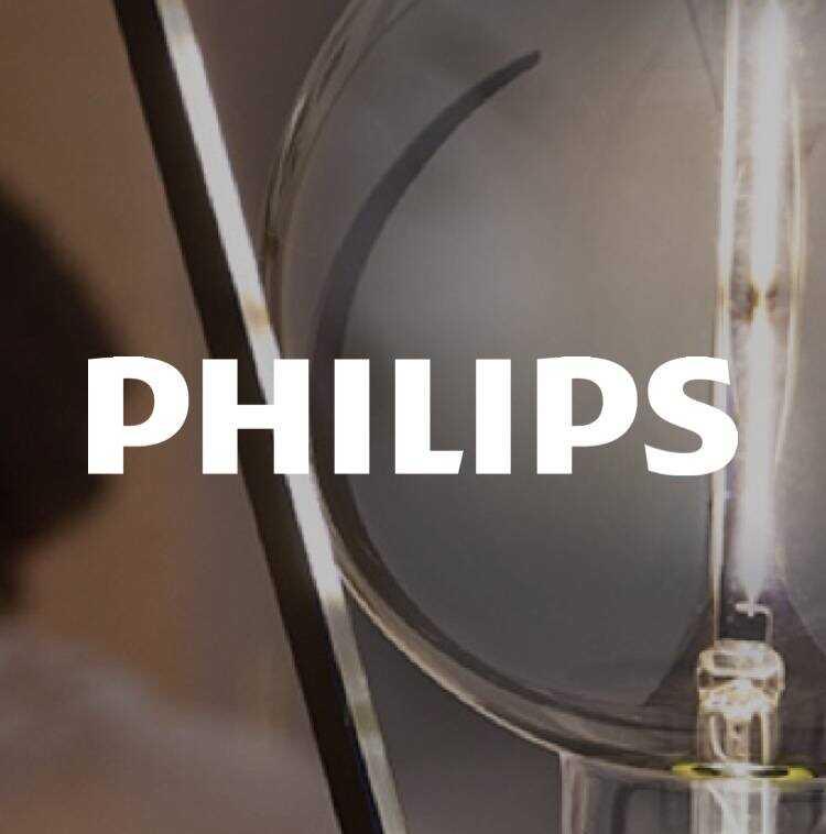 Philips logo with Philips lightbulb