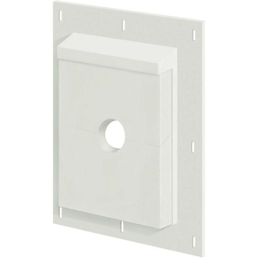 "Builders Edge Sturdimount 6"" x 8-1/2"" Trim White/Paintable Fiber Cement Mounting Blocks"