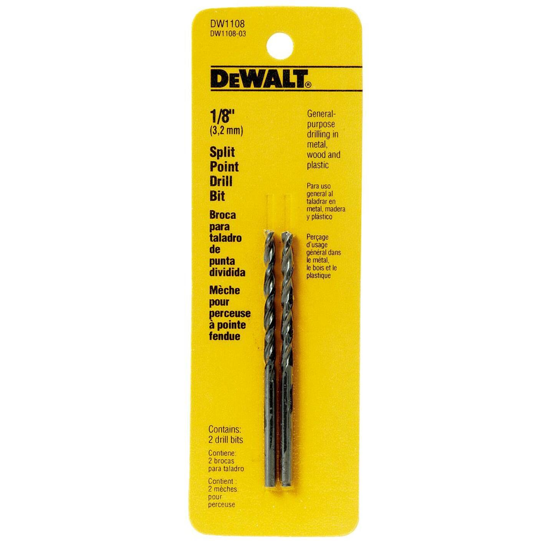 DeWalt 1/8 In. Gold Ferrous Oxide Pilot Point Drill Bit (2-Pack) Image 1