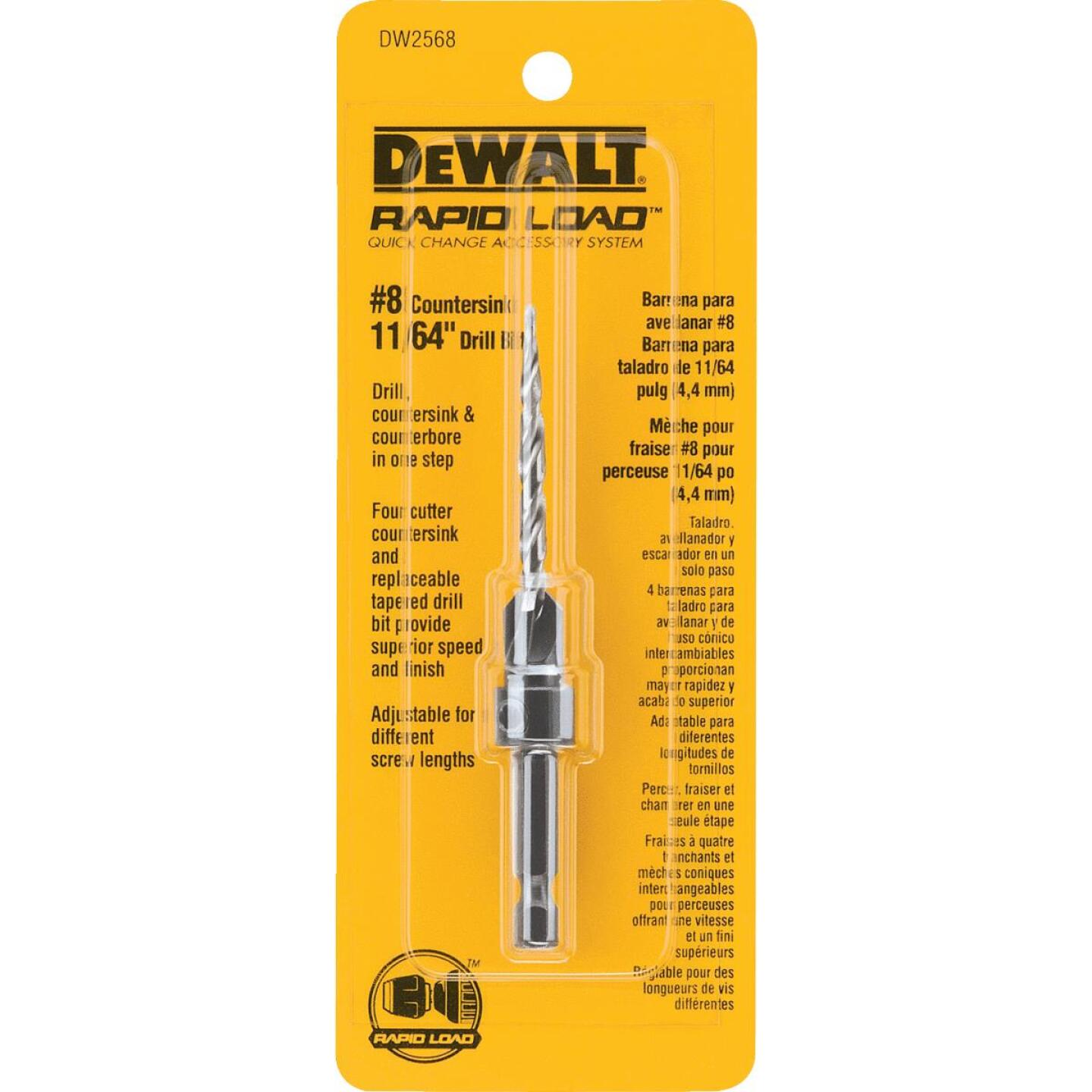 DeWalt #8 - 11/64 In. Fine Rapid Load Wood Countersink Image 1