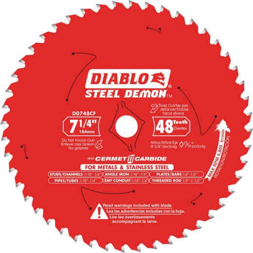 Diablo Steel Demon 7-1/4 In. 48-Tooth Cermet II Carbide Metals & Stainless Steel Circular Saw Blade