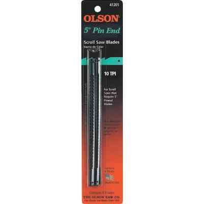 Olson 10TPI Regular Pin End Scroll Saw Blade (6 Count)