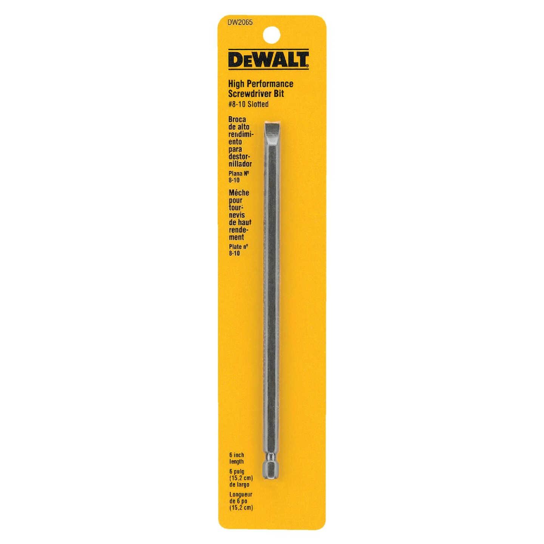 DeWalt Slotted #8-10 6 In. 1/4 In. Power Screwdriver Bit Image 1