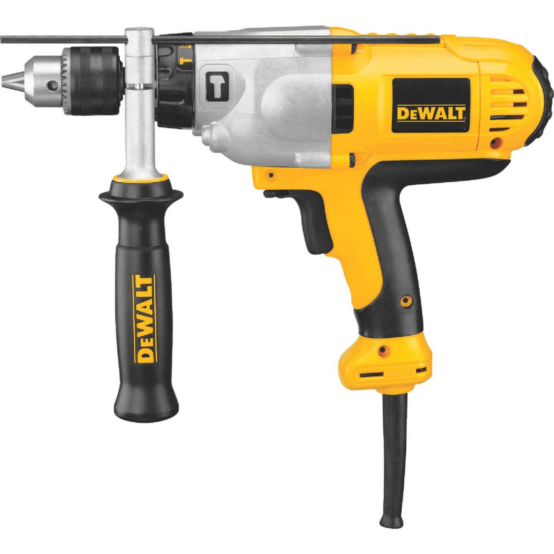 DeWalt 1/2 In. Keyed 10.0-Amp VSR Mid-Handle Grip Electric Hammer Drill Image 1