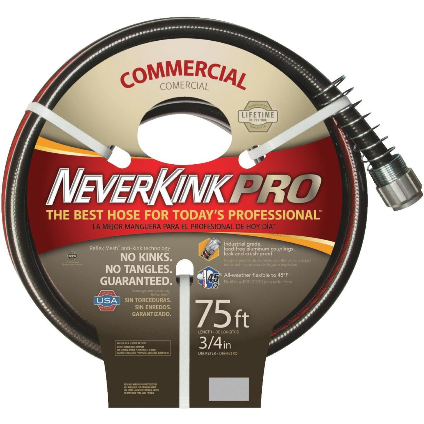 Neverkink Pro 3/4 In. Dia. x 75 Ft. L. Commercial Garden Hose Image 1