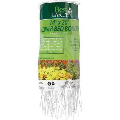 Best Garden 14 In. H x 20 Ft. L Steel Decorative Border Fence