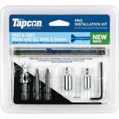 Tapcon Masonry Drill Set with Star Bit (8-Piece)