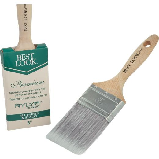 Best Look Premium 3 In. Flat Nylyn Paint Brush