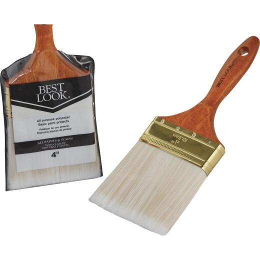 Best Look General Purpose 4 In. Flat Polyester Paint Brush