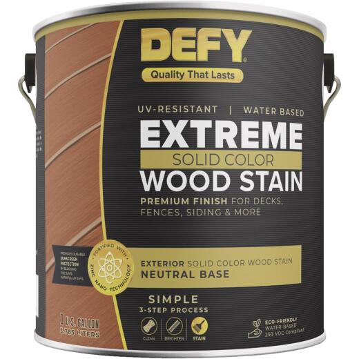 Defy Extreme 1 Gal. Neutral Solid Color Wood Stain